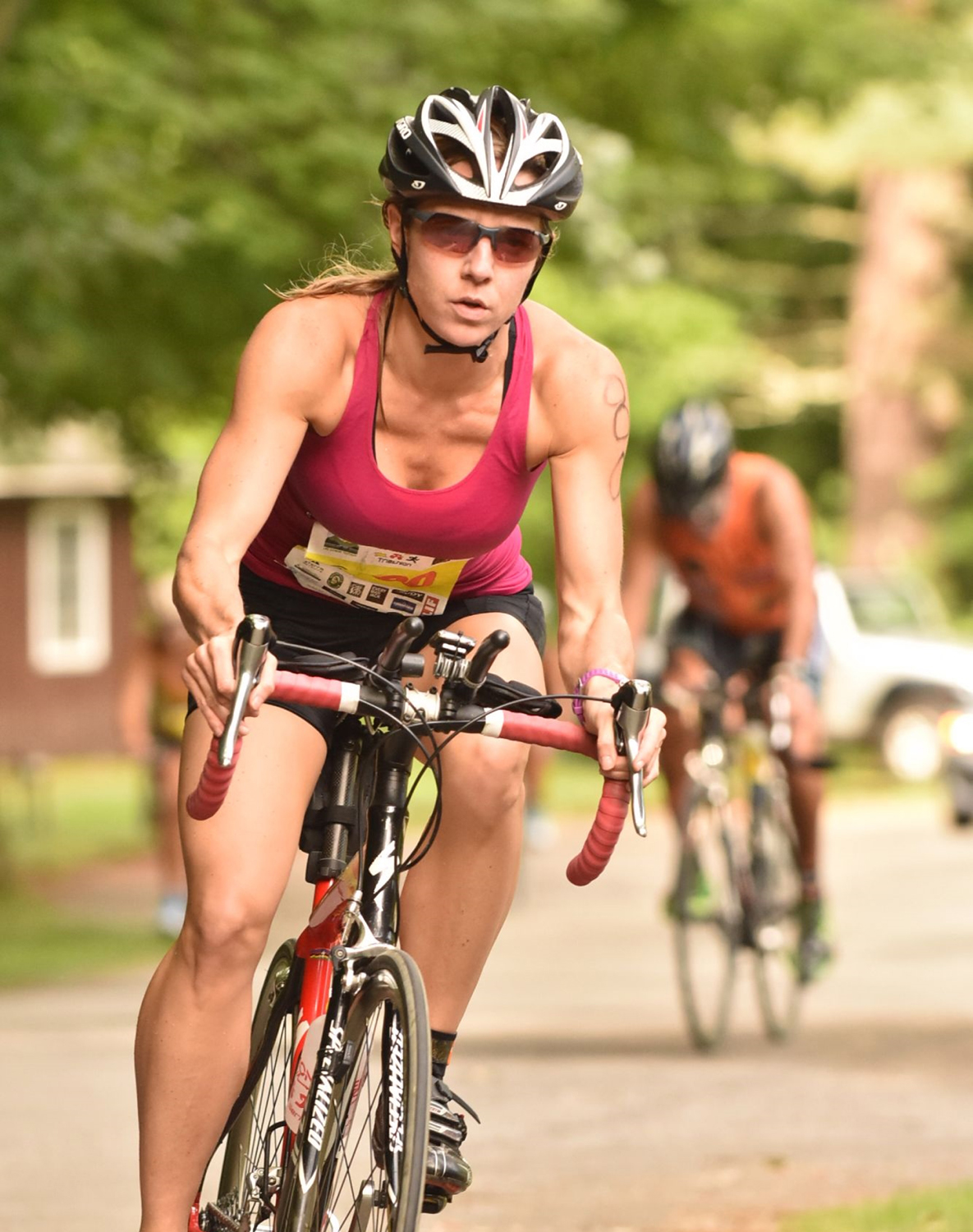 Competitor at the 2016 Vermont Sun Triathlon Series at Lake Dunmore. Pat Hendrick Photography.