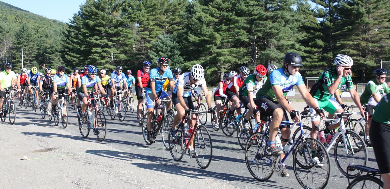 Start of 2014 ididaride! Adirondack Bike Tour.  ADK