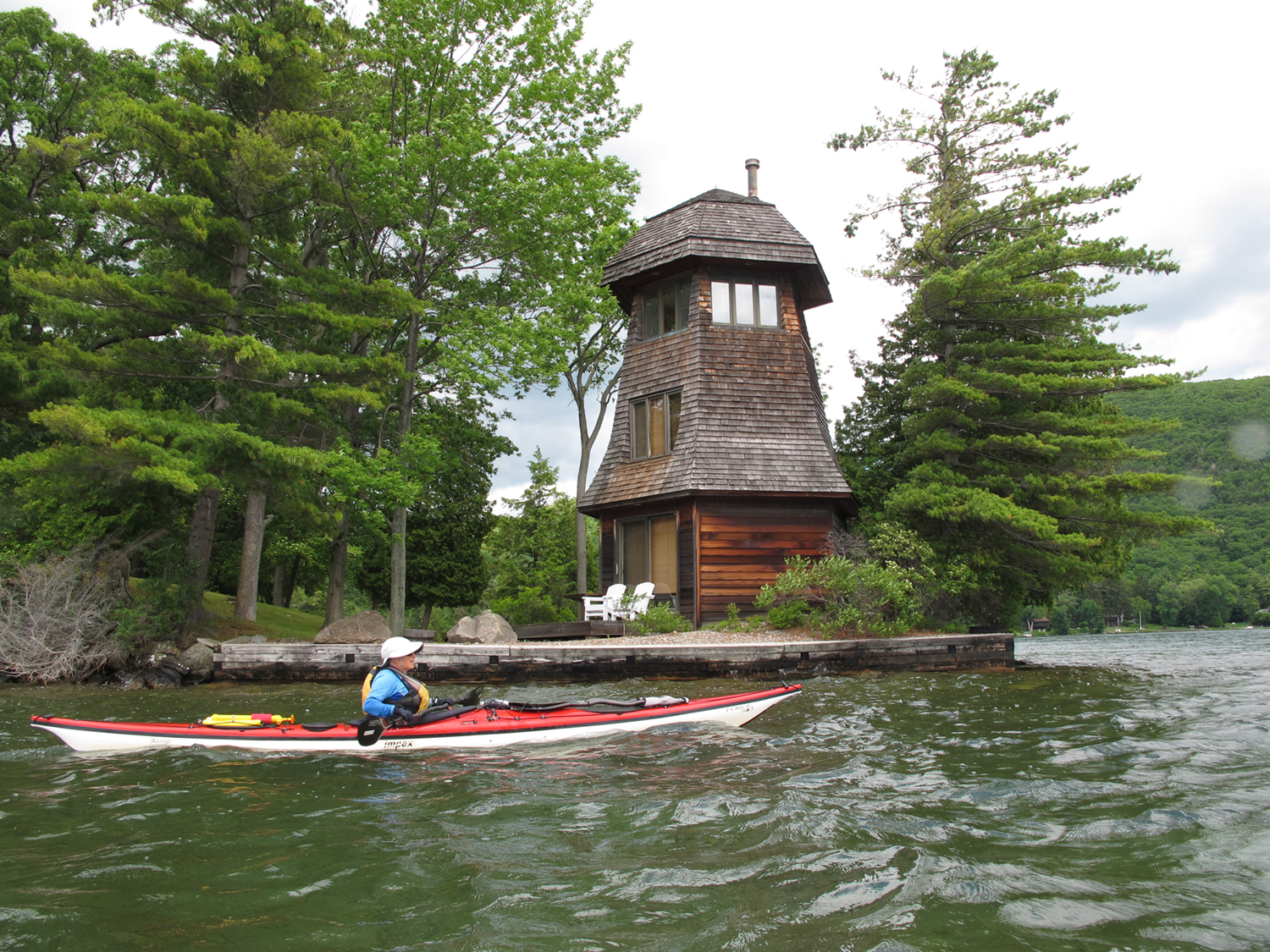 Julie Passes Windmill Point on the lake's west shore.  Alan Mapes