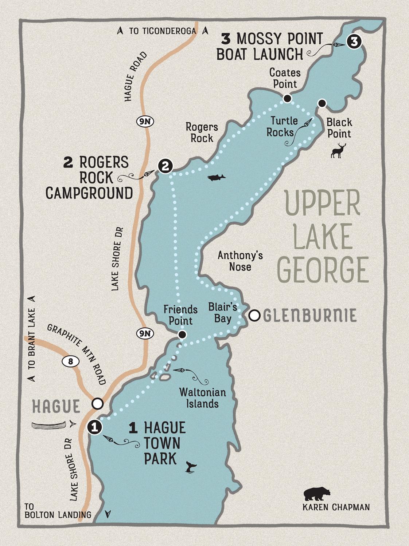 Map by Karen Chapman