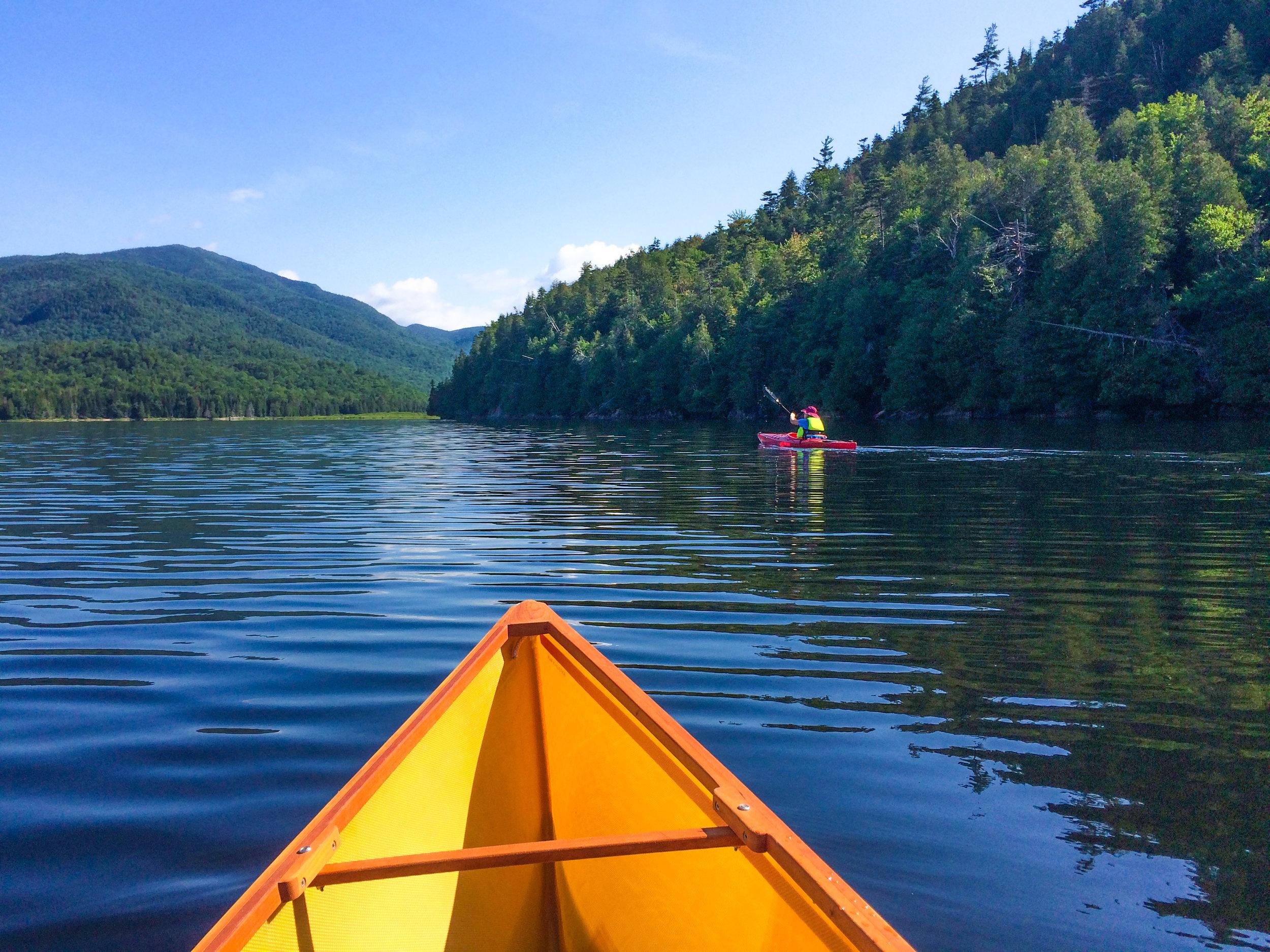Canoeing on Henderson Lake in Newcomb. Skip Holmes