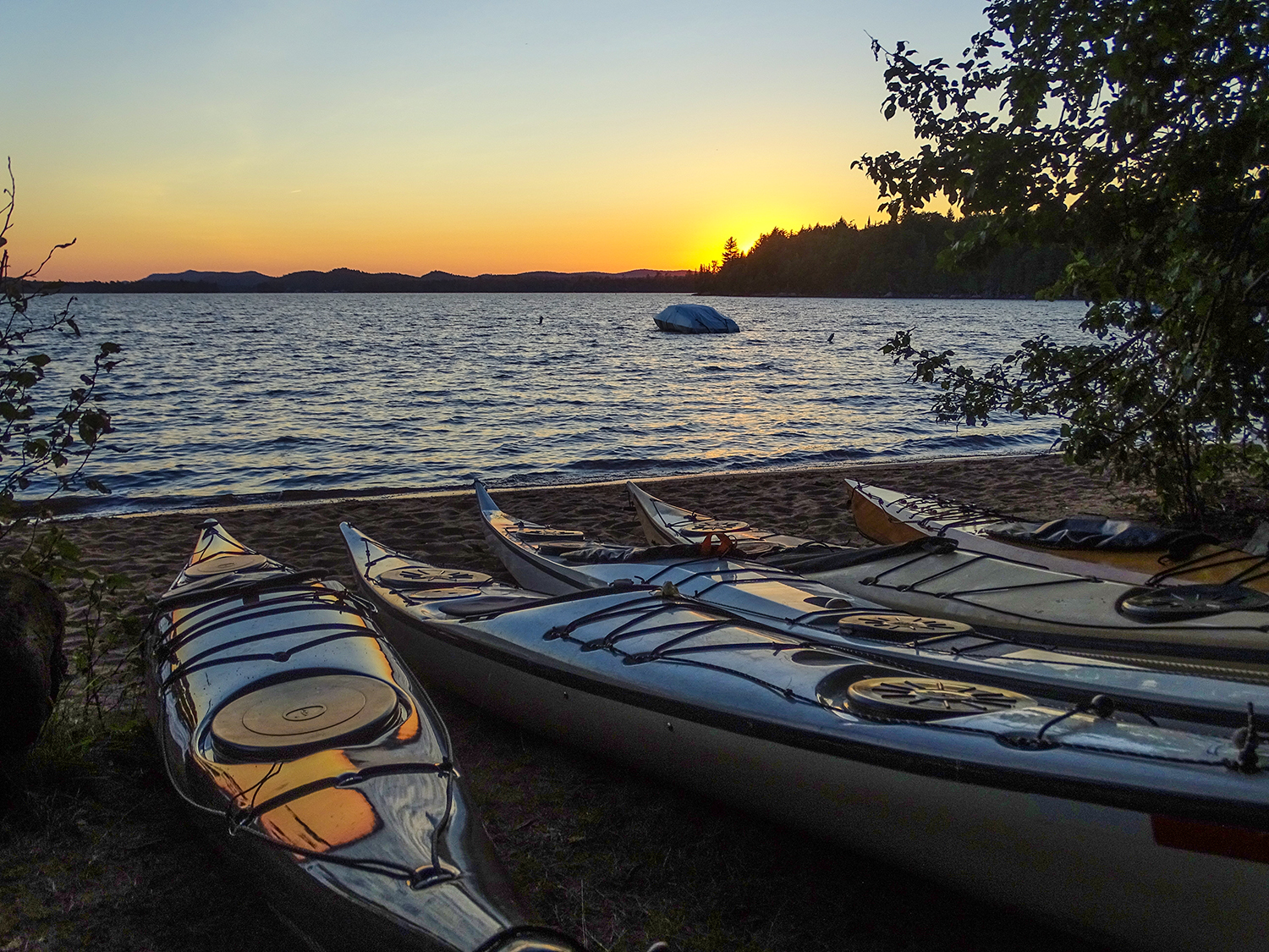Kayaks put to bed for the day at Golden Beach Campground.   Alan Mapes