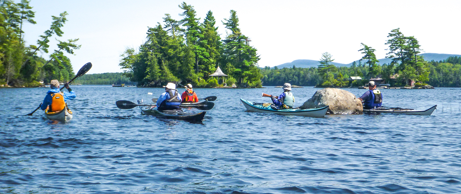 Paddling through some islands on Raquette Lake.   Alan Mapes