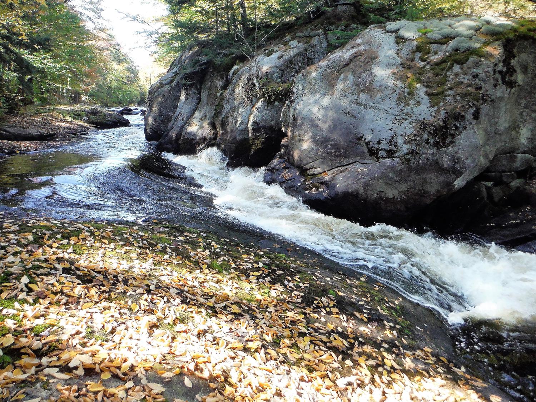 Flume on Round Lake Stream.   Rich Macha