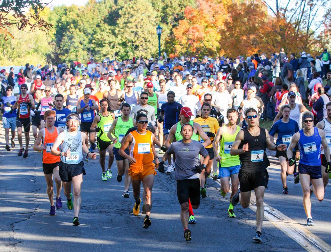 Start of the 2016 Mohawk Hudson River Marathon.  Bill Meehan