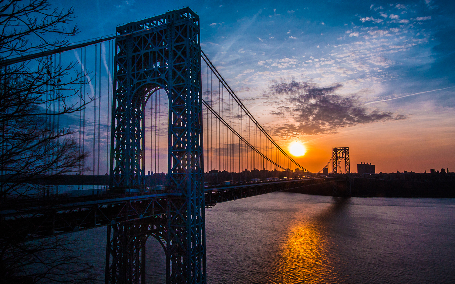 The Long Path starts at 175th Street subway station and immediately crosses the George Washington Bridge.  Steve Aaron Photography