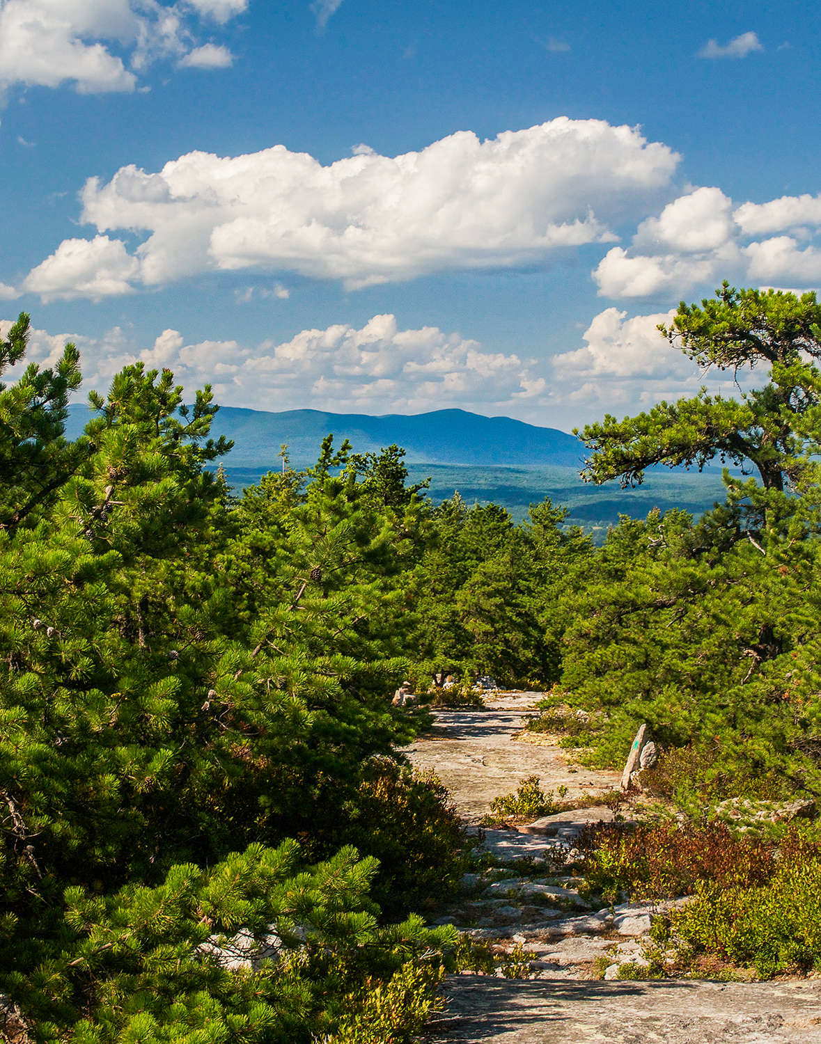 Crossing Shawangunk Mountains with views of the Catskills.  Steve Aaron Photography