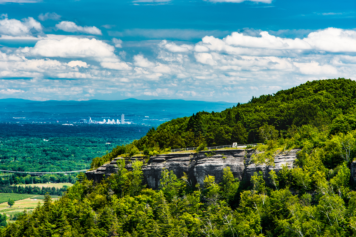 View of Albany from the Helderberg Escarpment in Thacher State Park, current northern terminus of the Long Path.  Steve Aaron Photography