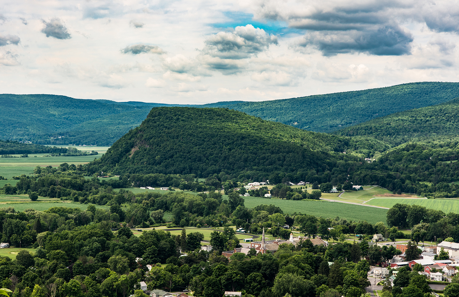 Vroman's Nose and the town of Middleburgh. Steve Aaron Photography