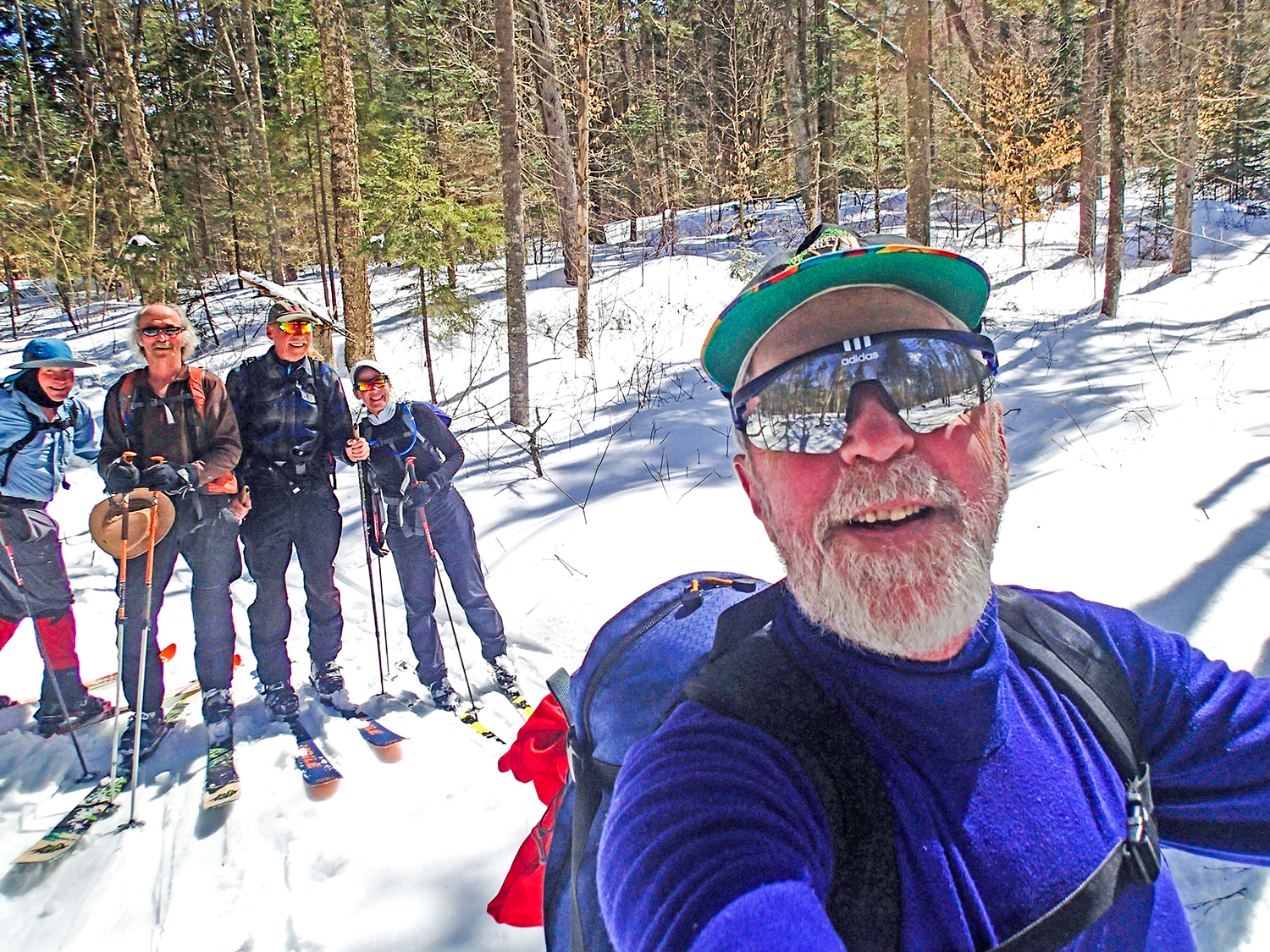 One of the author's many backcountry adventures with friends.