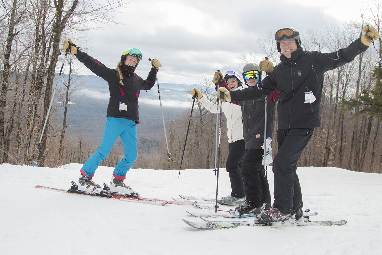 Happy skiing family at Gore in January 2017. Julia Johnson/Gore Mountain