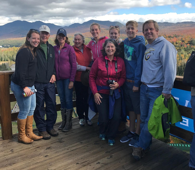 Lussi family in Adirondack High Peaks.