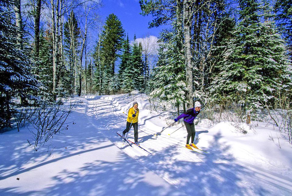 Beautiful day at Pineridge Cross Country Ski Area.  Walter Kersch