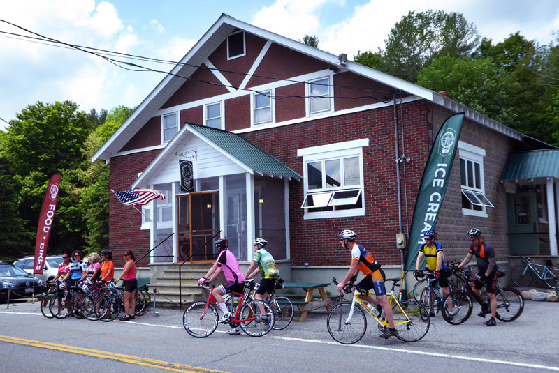 A cycling hot spot, the Hub in Brant Lake.   Dave Kraus/krausgrafik.com
