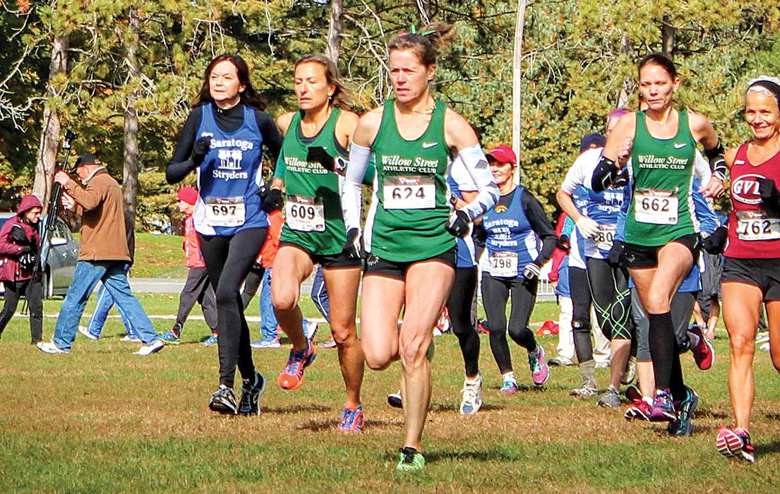 Start of the 2017 Saratoga Cross Country Classic 5K race.  Shelly Binsfeld