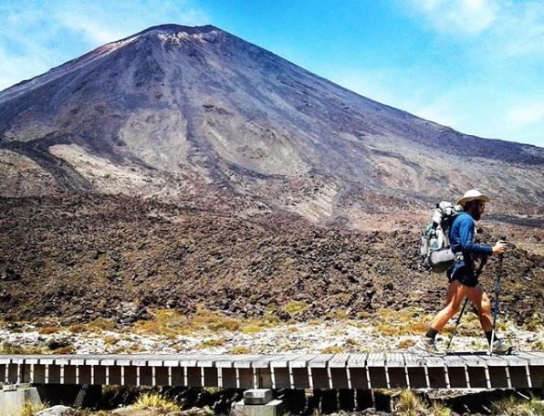 Mt. Ngauruhoe in Tongariro National Park.