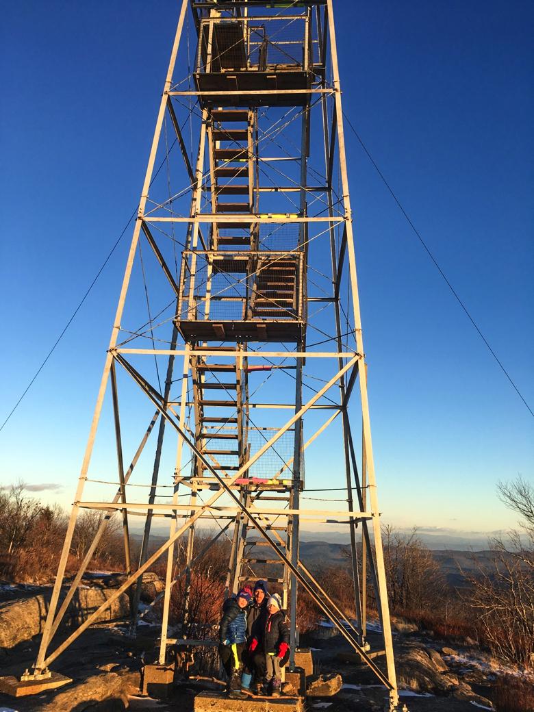 The fire tower atop Hadley Mountain.   Thomas O'Grady