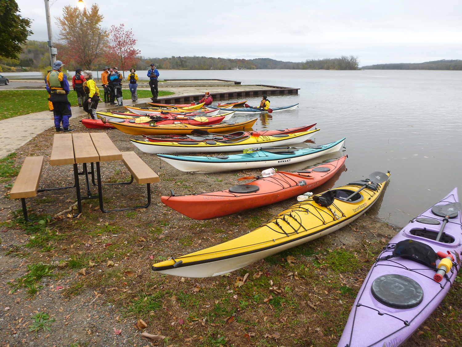 Ready to launch for a late fall paddle, Coxsackie.   Alan Mapes