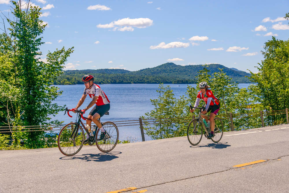Riding along beautiful Indian Lake at 2017 Ididaride!   ADK