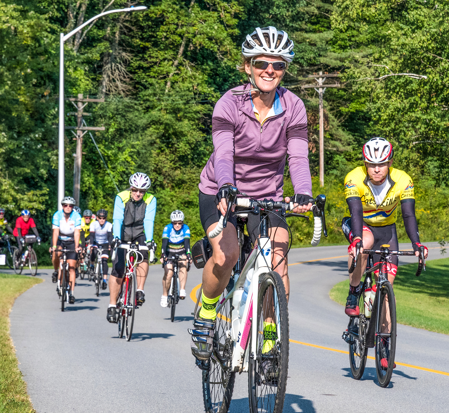 Riders leaving for a ride during the 2017 Century Weekend at Saratoga Spa State Park.   Bob Cohen