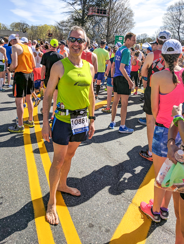 Start of Boston Marathon 2017.