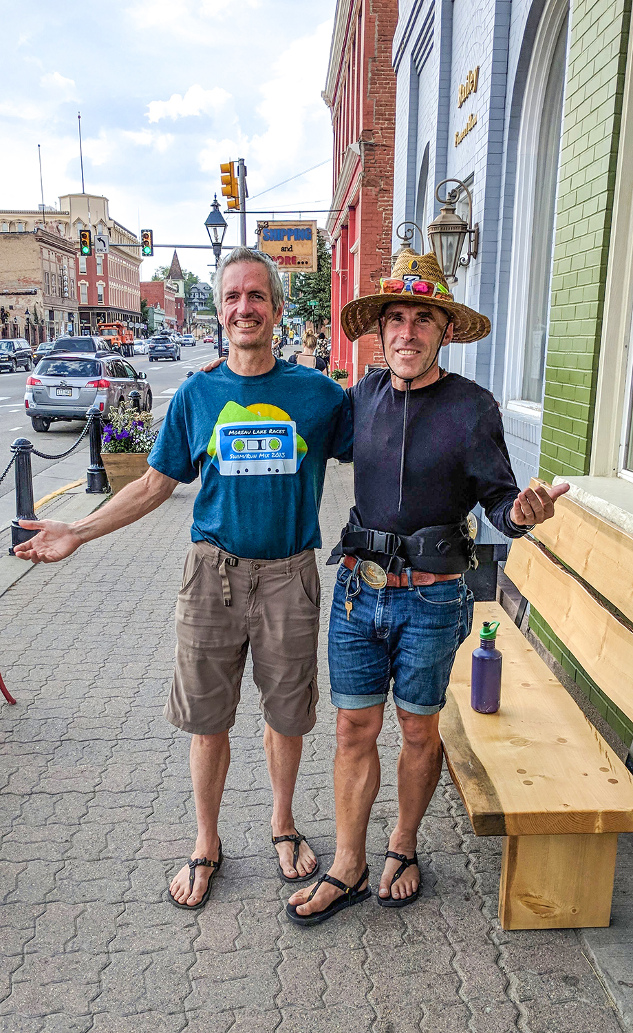 """""""Amigo Grande"""" with Barefoot Ted in Leadville."""