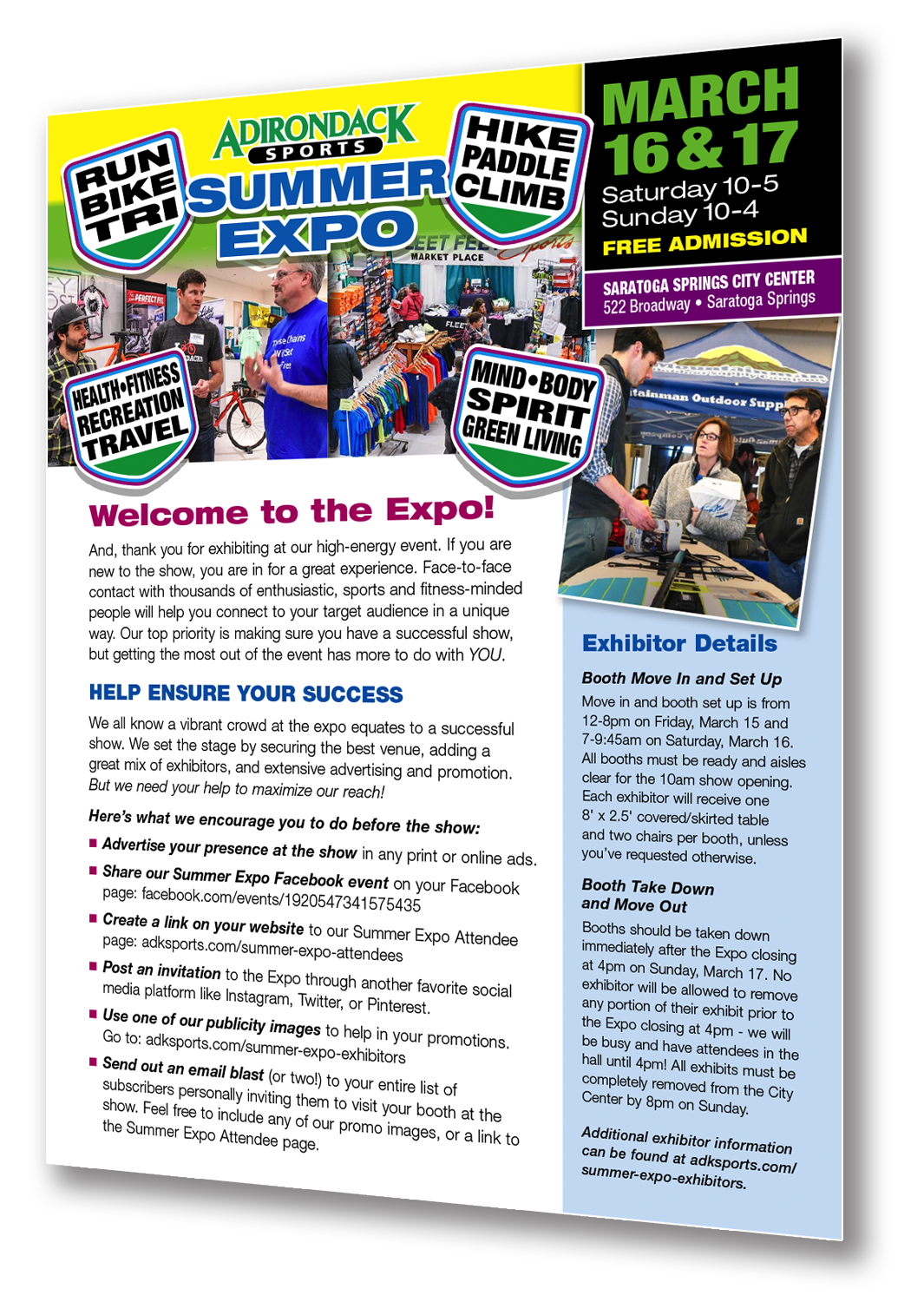 Click image to view the Exhibitor Success sheet PDF