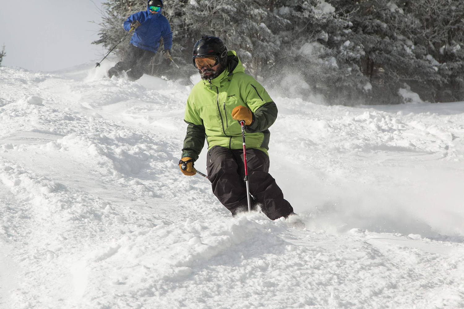 Gore powder day action.