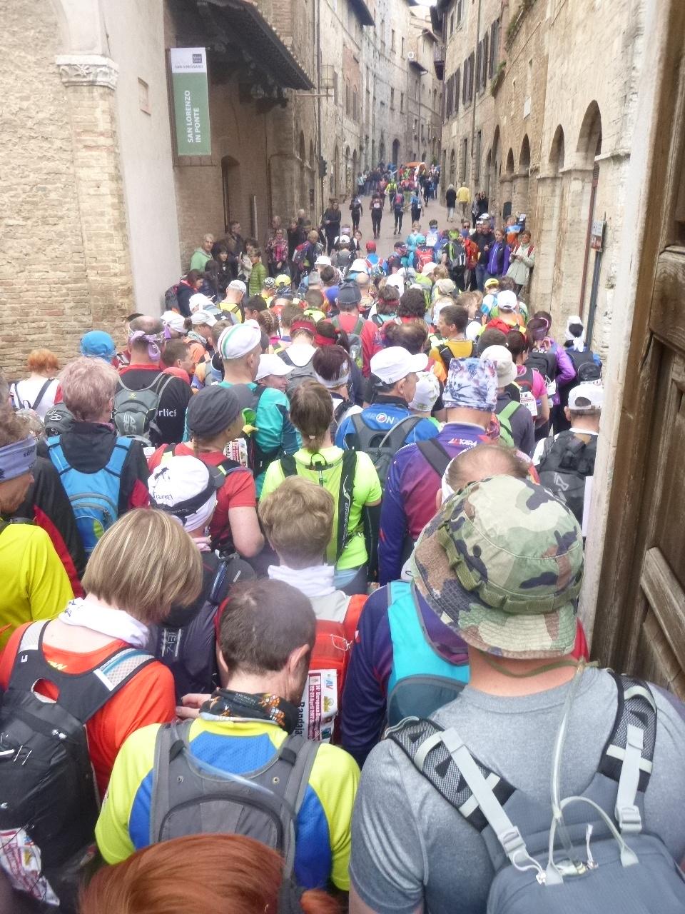 Start of a 24 hour race in Tuscany, Italy.   Alexis Rzewski