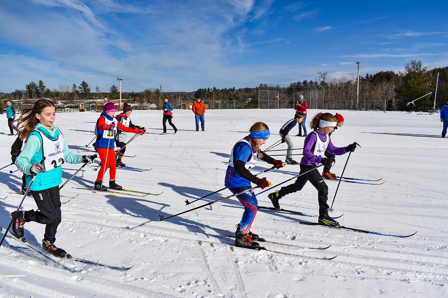 Start of the Bill Koch youth race at Shenendehowa Nordic's Classic Race on January 5, 2019 at Gore (Ski Bowl).   Darryl Caron