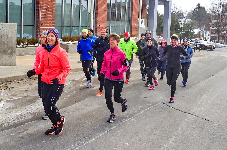 Fleet Feet training run at the 2015 Adirondack Sports Summer Expo.    Darryl Caron