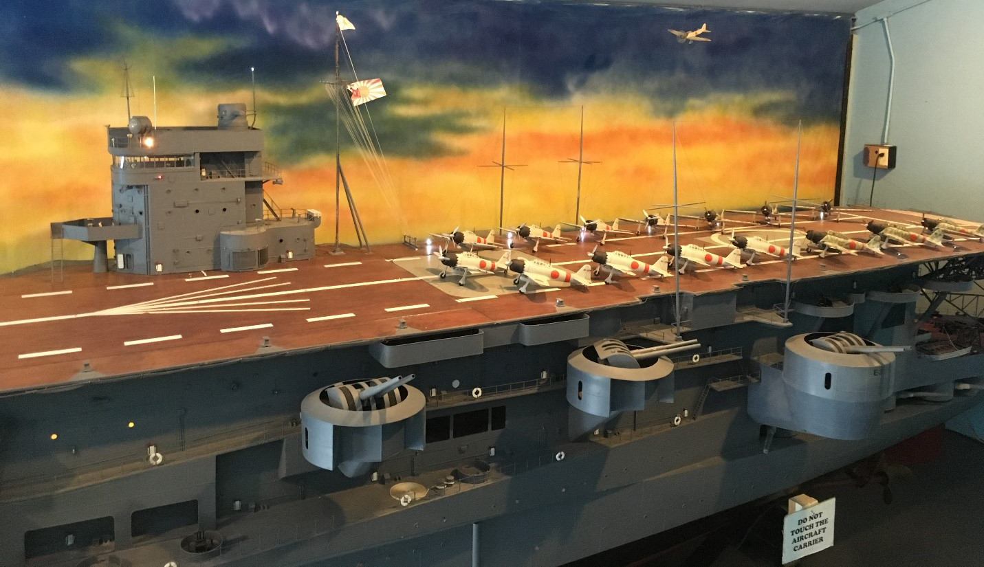 Japanese aircraft carrier replica from Pearl Harbor attack that led U.S. into World War II.   Tom O'Grady