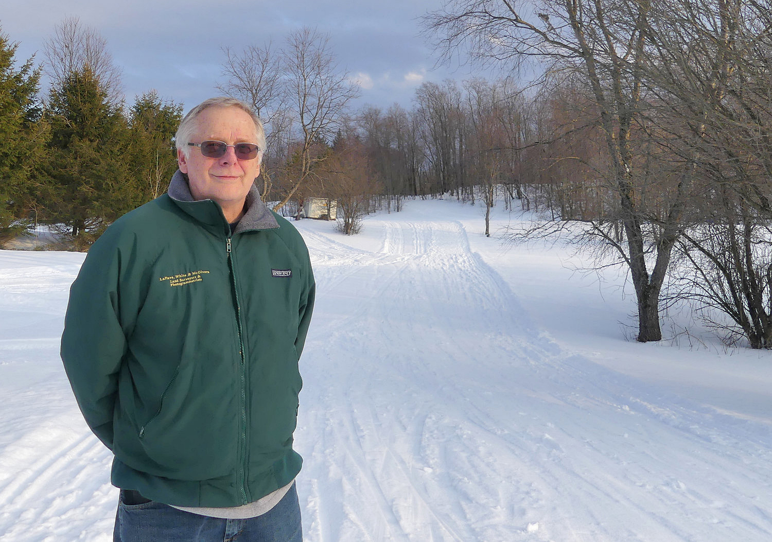 Hugh Quinn poses on a trail near the lodge at Osceola Tug Hill Cross Country Ski Center. After 39 years, he and his wife, Anna, are putting the center up for sale with plans to retire by the end of next winter.   David Hill/Rome Sentinel