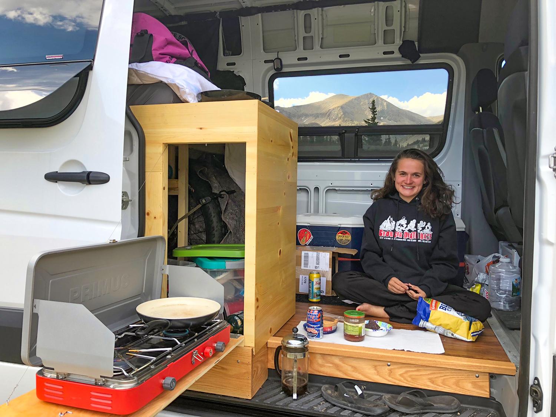 Van camping in Colorado.