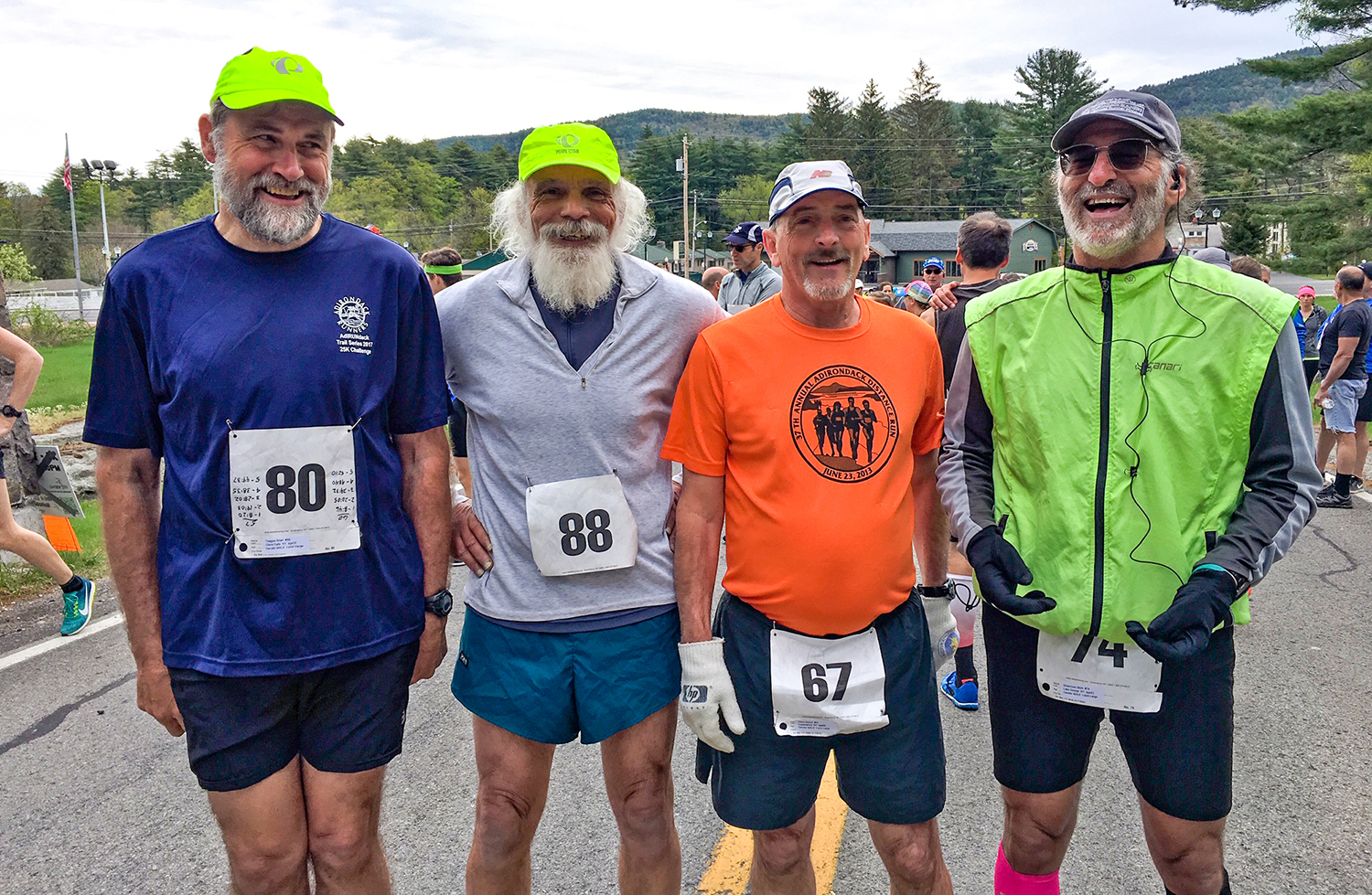 Brian Teague, Larry Mancini and Dan Olden have ran all 29 races, and Mark Schachner has done 26.  Jill Pederson