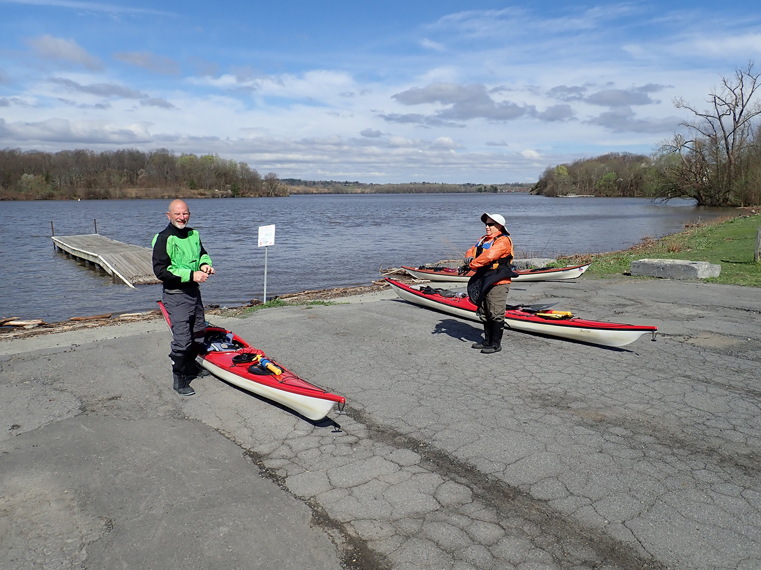 Julie and Michael ready to start from Alcathy's Boat Launch, Waterford.  Alan Mapes