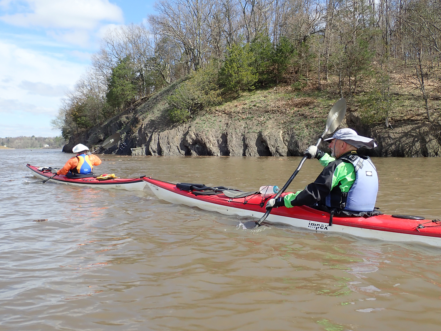 Fighting wind and current on the Mohawk River.  Alan Mapes