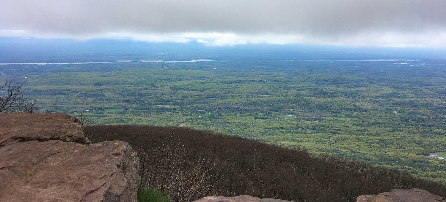 A view from the ledges near the ranger cabin at the summit.  Tom O'Grady