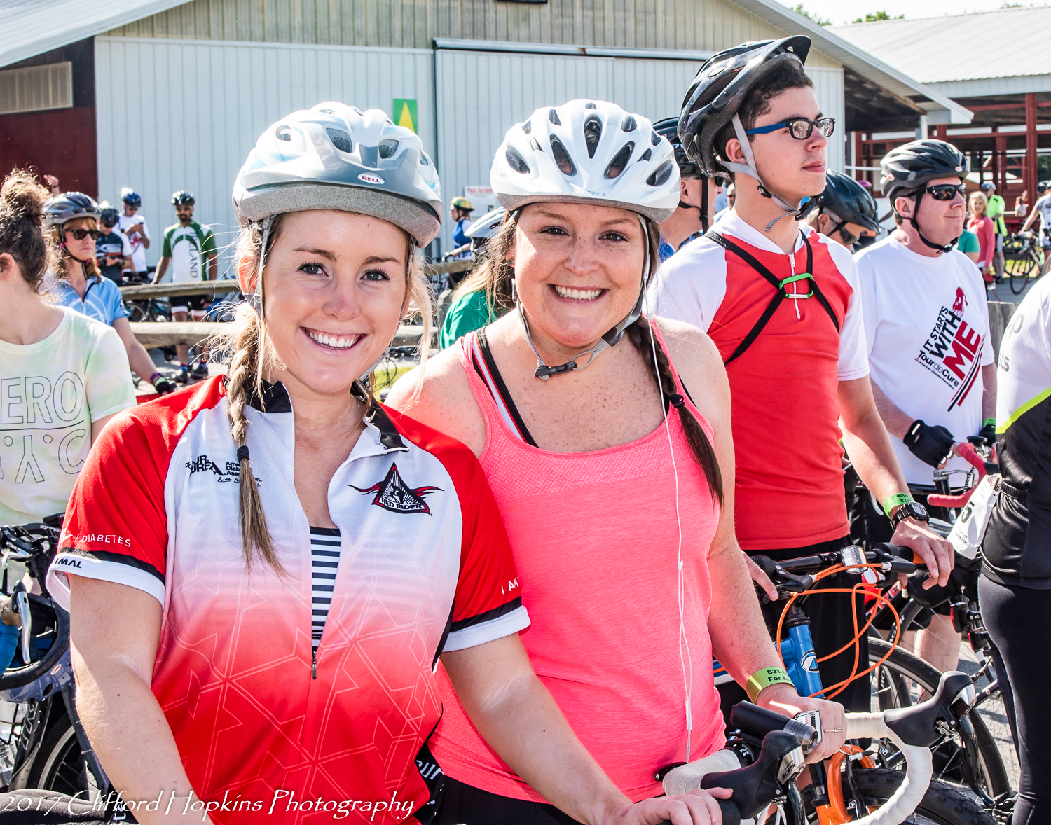 Red Rider family at the 2018 Tour de Cure.  Clifford Hopkins Photography