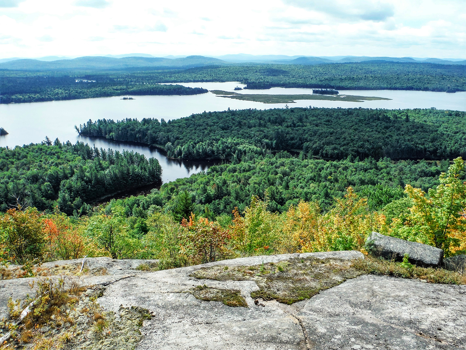 View of Lows Lake from Grass Pond Mountain.   Rich Macha