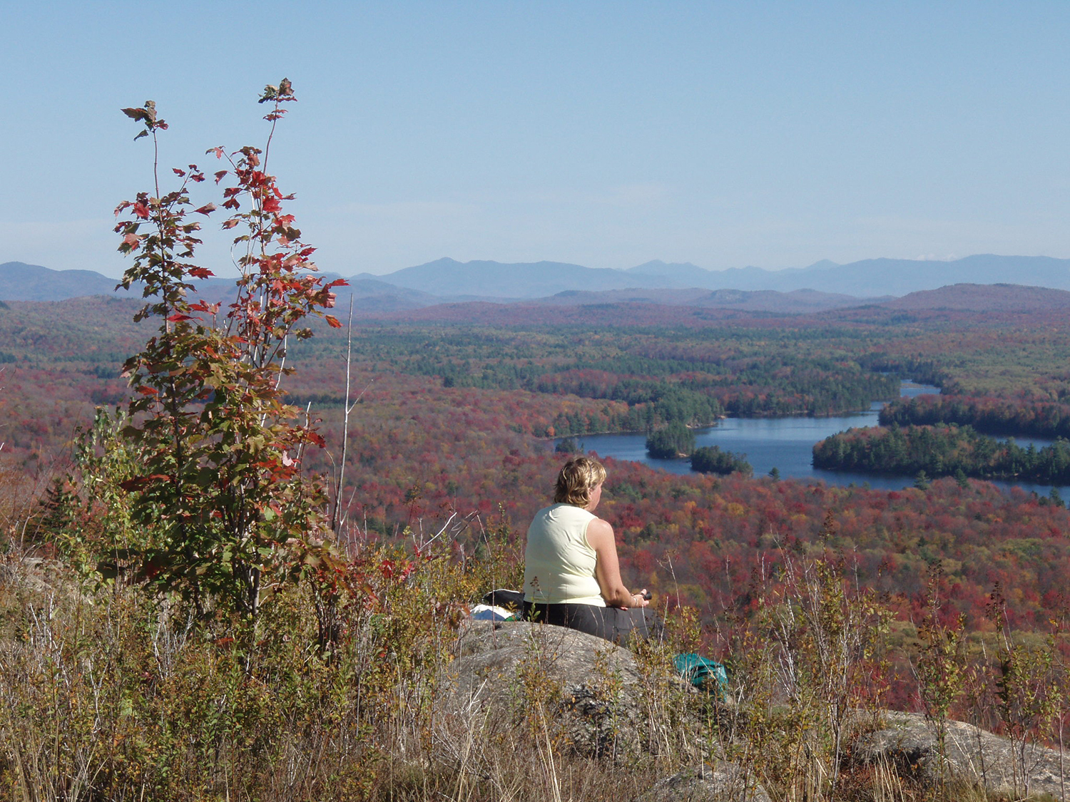 Enjoying the view from Grass Pond Mountain.   Rich Macha