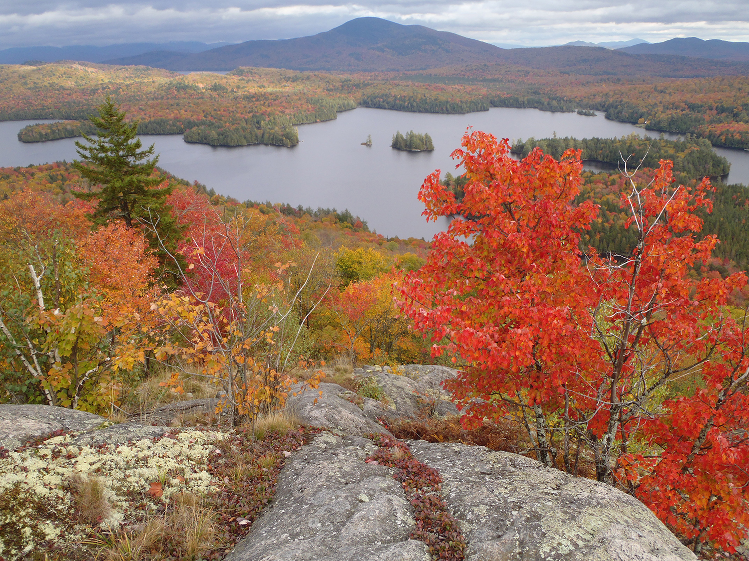 Fall view of McRorie Lake from Mud Pond Mountain.   Rich Macha