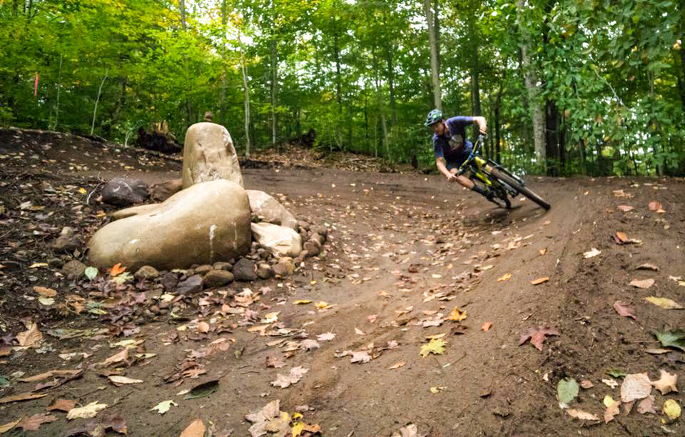 New flow trails at McCauley Mountain in Old Forge.   Eli Glesmann