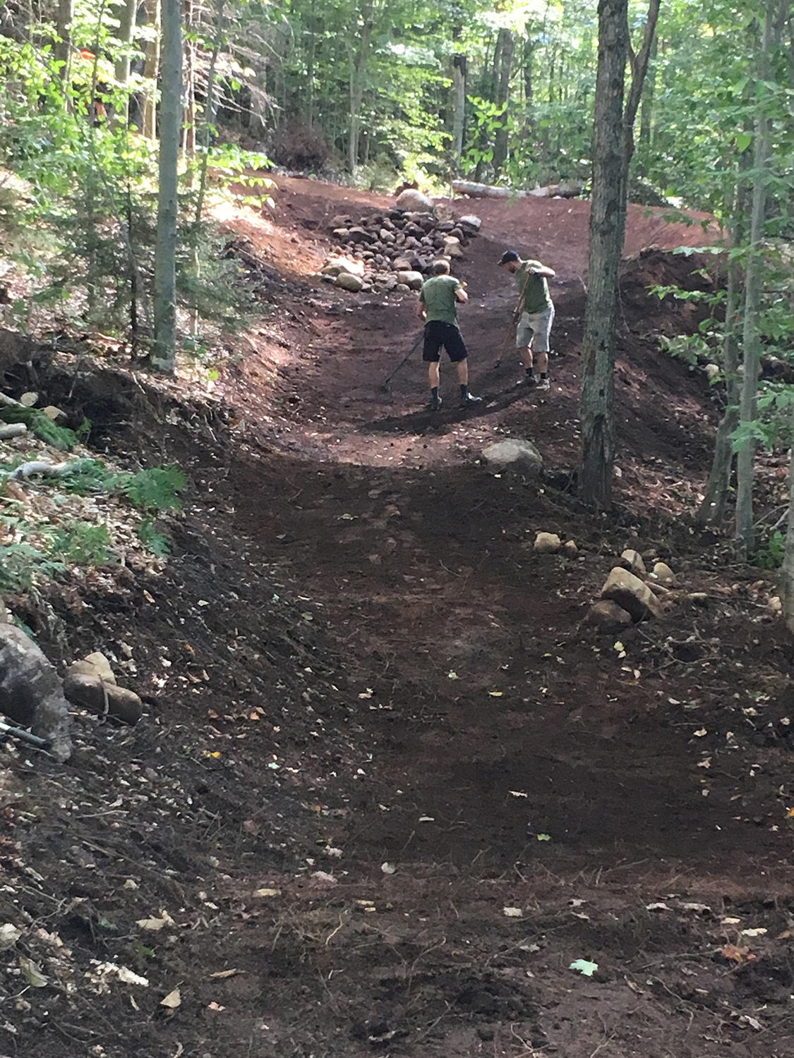 New flow trails at McCauley Mountain in Old Forge.   Kelly Ann Nugent/AFTA