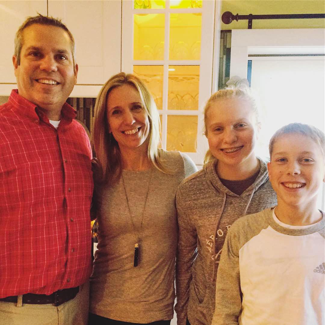 The Dolge family; Brian, Karen, Abigail & Wyatt.