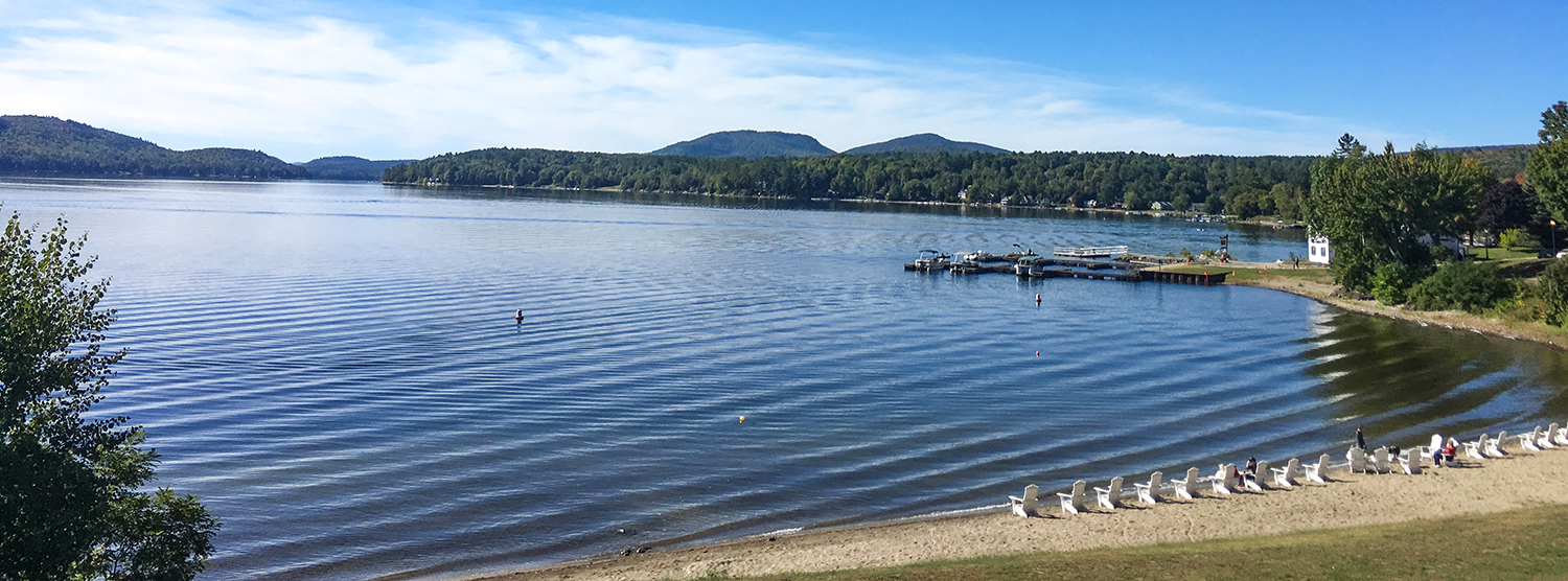 Schroon Lake from finish area of Adirondack Marathon Distance Festival.  Tom O'Grady