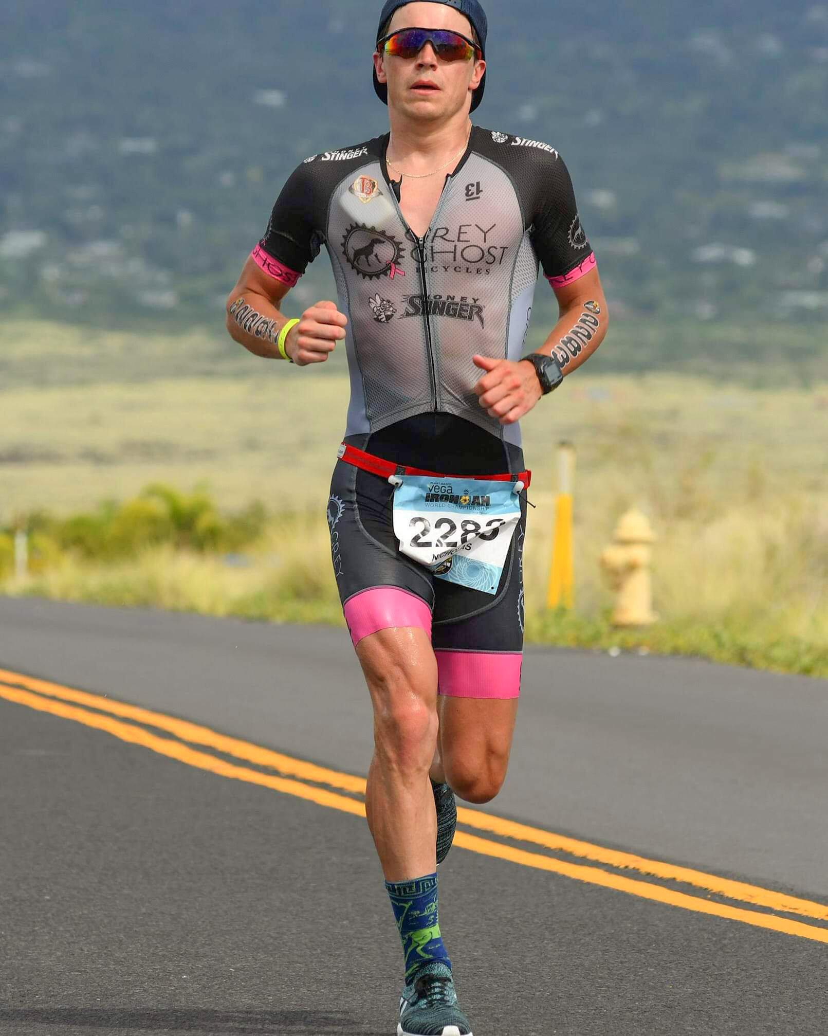Iron man triathlete endurance event