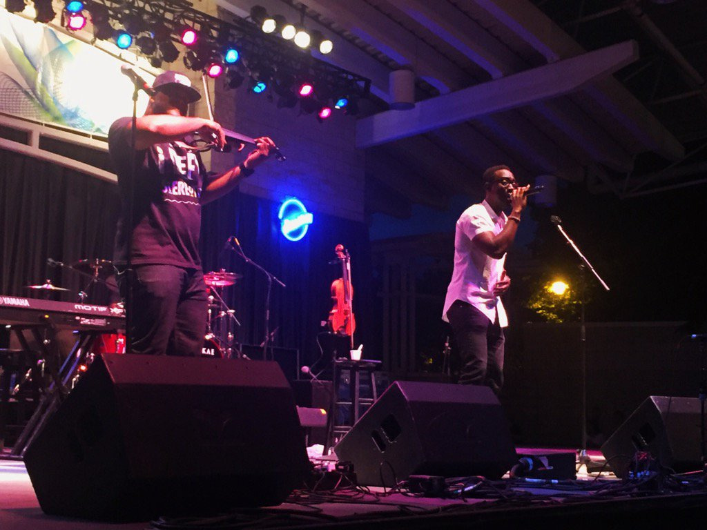 Black Violin performing at the Summerfest Music festival