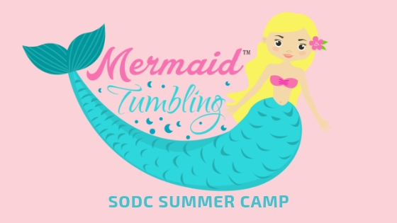 Mermaid tumbling CAMP (includes mermaid tail)  JuNE 12th-14th- 1:00Pm-3:00PM Ages 3-5 Yrs. June 19th-21st- 1:00Pm-3:00pm Ages 6 Yrs. & Up