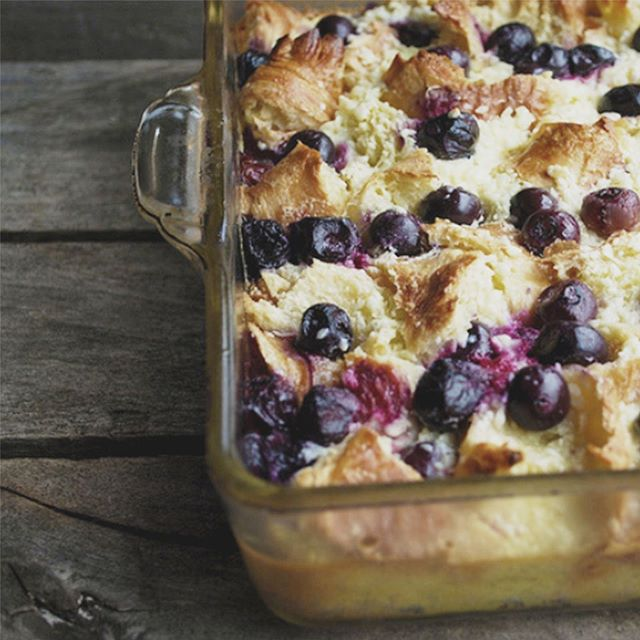 Easy, peasy, lemon squeezy! This Blueberry Lemon Breakfast Croissant Casserole is delicious! Check out our blog to find the recipe and recreate it yourself! #cceawomen #recipe #blueberry #lemon #blog